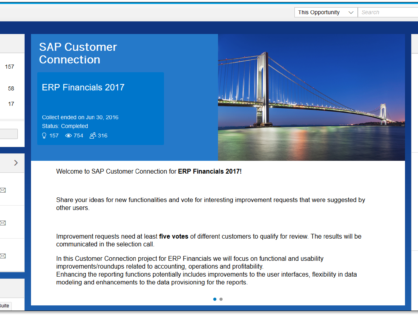 SAP's CEI Program and New Developments for Project Systems (PS)