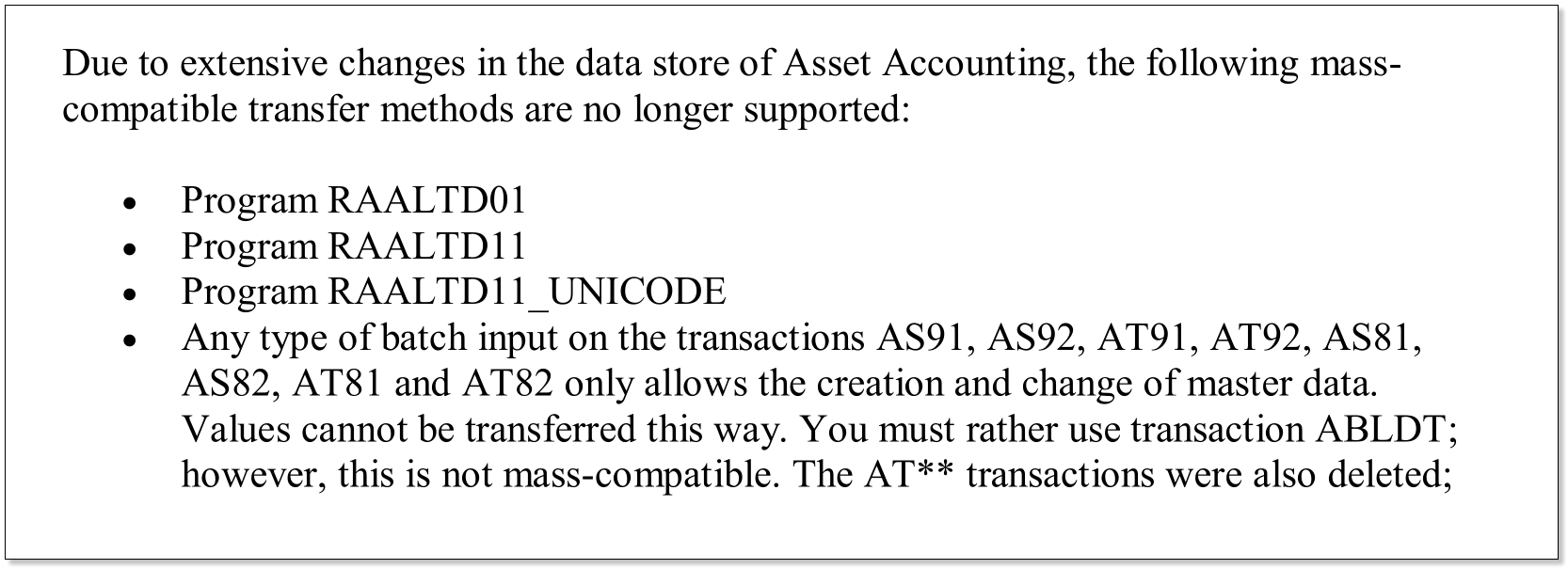S/4HANA New Asset Accounting: Changes in Legacy Data